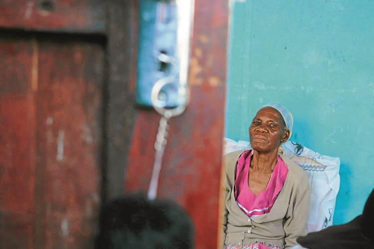 Hluphekile Mabuyakhulu is a bed-ridden pensioner who says she was pressured into signing a lease for her ancestral land. Picture: Qiniso Mbili
